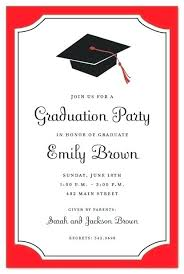 Graduation Party Invitation Template Inspiring Printable Graduation Invitation Templates Free