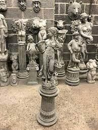 roman lady stone garden ornament statue