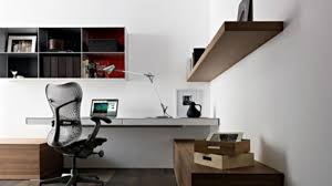 Wall Mounted Office Shelving Simple Contemporary Minimalist Home Office  Style With Wall Mounted Desk . Decorating