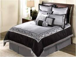black white and silver bedding