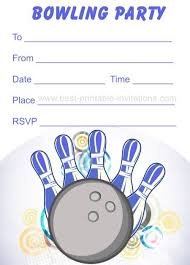 Free Printable Bowling Invitations In 2019 Bowling Party