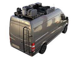 Oversize tires won't fit under the van and require the tire to be relocated. Mercedes Benz Sprinter 2nd Gen 906 2006 Current Slimline Ii Roof Rack Kit 2772mm Long Without Oem Tracks Campervanculture Com