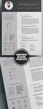 Indesign Modern Resume Modern Indesign Resume Template Dream Job Indesign