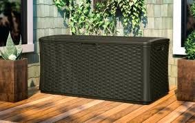 Suncast Wicker Deck Box Extra Large 134 Gallon