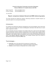 Pdf Comparison Between Harvard And Ieee Referencing Styles