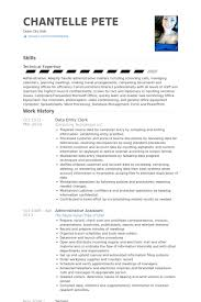 Clerical Resume Template Enchanting Data Entry Clerk Resume Samples VisualCV Resume Samples Database
