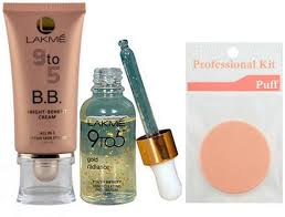 set of 3 lakme 9 to 5 b b cream with gold radiance face serum with