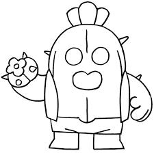 Disegno Da Colorare Brawl Stars Spike Cactus 31