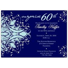 60 birthday invitations andromeda navy blue surprise 60th birthday invitations paperstyle