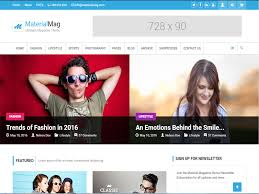 Free Html Newspaper Template Materialmag Is A Newspaper Free Html Template For Magazine