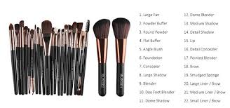 made of of soft and silky natural hair the brushes will let you quickly apply your