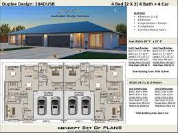 modern duplex house plans 2 family home