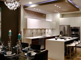 Kitchen Drop Ceiling Lighting Mesmerizing Kitchen With Modern Drop Ceiling Combined Recessed
