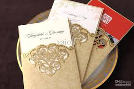 Personalised Ruby Wedding Invitation Cards Payment White And Gold