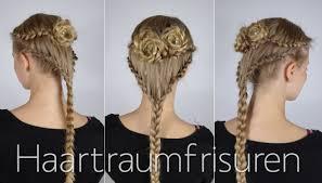 Flower Lace Braids Haartraumfrisuren