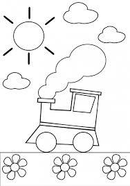 Click on an image below. Preschool Coloring Page Train Kidspressmagazine Com