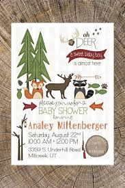 Camping Themed Baby Shower Invitations #11220