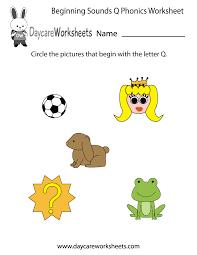 Kindergarten  This letter Q phonics worksheet ...