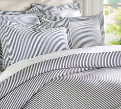 thatcher ticking stripe duvet cover sham