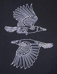 Hugin And Mugin Ravens Craft Pagan Embroidery Raven Norse