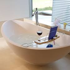 image of chic wood bathtub caddy with reading rack 150 wood bathtub caddy with regard
