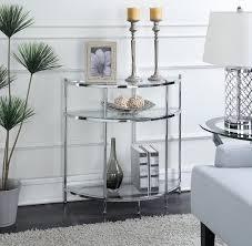 console table decor glass