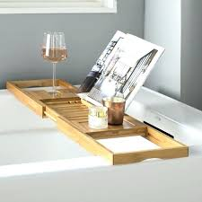 bathtub book holder bamboo bath floating wooden caddy teak tray luxury reading stand wine bathtub tray with book