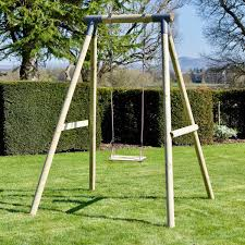 rebo wooden garden swing sets solar grey with wooden seat for just 134 95 outdoor toys