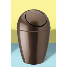 Umbra Sway Trash Can Bronze In Small Trash Cans   Bronze Bathroom Trash Can