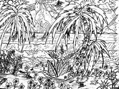 Small Picture landscape coloring pages for adults Google Search Coloring