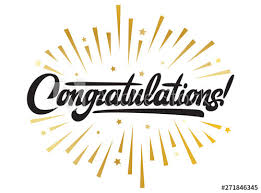 Congratulations Design Illustration With Calligraphic Inscription Congratulations