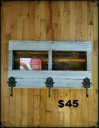Shelf And Coat Rack Rustic pallet wood shelfcoat rack Furniture in Lynchburg VA 90
