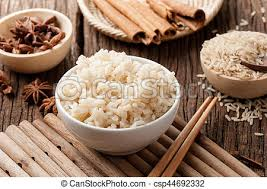cooked brown rice in a bowl. Delighful Cooked Cooked Brown Rice  Csp44692332 With Cooked Brown Rice In A Bowl