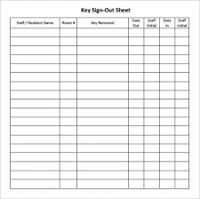 Key Sign Out Sheet Key Sign In And Out Sheet Sinma Carpentersdaughter Co