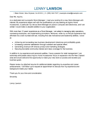 best store manager cover letter examples livecareer edit