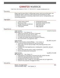 best photos of professional secretary resume summary examples legal secretary resume examples