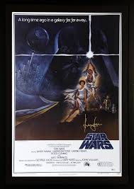 harrison ford star wars framed autographed poster bas