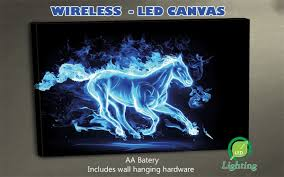 Led Lighted Canvas Painting