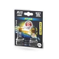Галогенная <b>лампа AVS</b> /<b>ATLAS ANTI-FOG</b>/желтый H27/880 12V ...