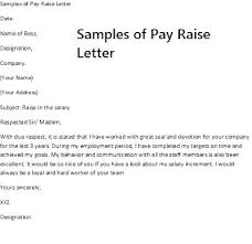 Increment Letter Template Custom Salary Increase Letter To Employer Raise Pay Template Uk Platformeco