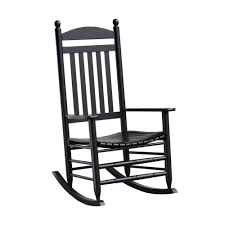 bradley black slat patio rocking chair 200s rta the home depot with regard to widely