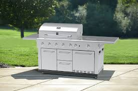 Refrigerator Outdoor Kenmore 5 Burner Island Gas Grill With Refrigerator