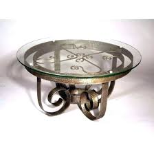 coffee table wrought iron glass top wrought iron coffee table wrought iron round table round in