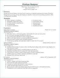 Warehouse Worker Resume Example Warehouse Worker Resume Warehouse ...