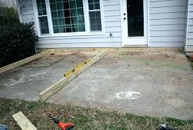 build a deck over concrete deck over concrete patio design building a ground level deck on