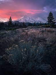 Mt. Shasta CA winter sunrise. [OC ...