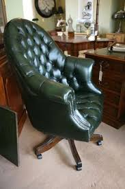 traditional leather office chairs. A Bottle Green Leather Directors Swivel Chair. Buttoned Upholstery Traditional Office Chairs C