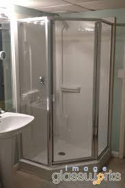 semi frameless neo angle shower door