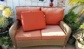 wicker patio cushions outdoor furniture covers better outdoor furniture outdoor wicker settee replacement cushions