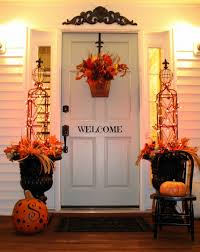 thanksgiving front door decorationsImpeccable Thanksgiving Front Door Decor Display Remarkable Orange